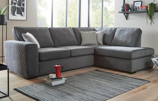 Corner Sofas In Both Leather Fabric Dfs, Dfs Sofa Duck Egg Blue